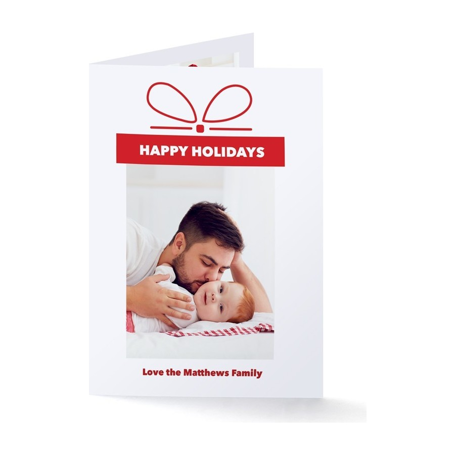 Gift of Happy Holidays Photo Card