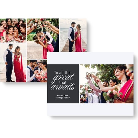 Great New Year Holiday Photo Card - Black