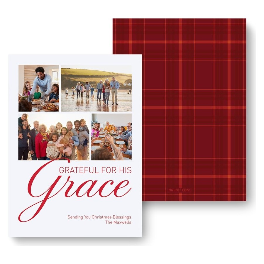 Grateful for his Grace Holiday Photo Card