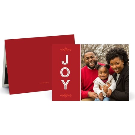 Joy to the New Year Holiday Photo Card - Front