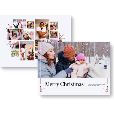 Starburst Photo Collage Holiday Card cover-1