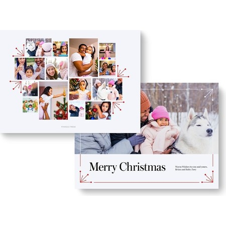Starburst Photo Collage Holiday Card cover-2