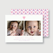 Pink Sweet Hearts Birth Announcement