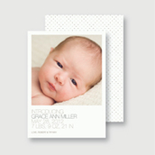 Chenille Dots Birth Announcement