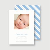 Blue Blanket Birth Announcement