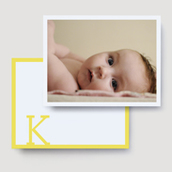 Yellow Block Photo Thank You Card