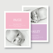 Twin Girls Photo Birth Announcement
