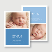 Twin Boys Photo Birth Announcement