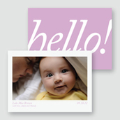 Hello! Birth Announcement