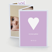 Sweet Heart Accordion Birth Announcement