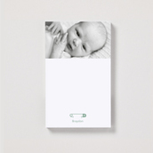 Magnetic Diaper Pins Portrait Notepad