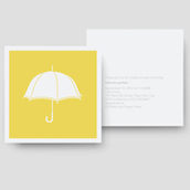Sunny Umbrellas Shower Invitation