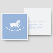 Rocking Horse Shower Invitation