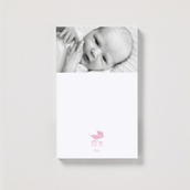 Magnetic Pink Pram Portrait Notepad