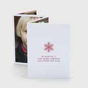 Snowflake Red Accordion