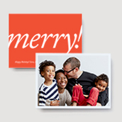 Merry! Photo Card   Ultrathick