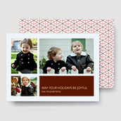 Honeycomb Red Photo Card   Ultrathick