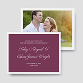 Script Photo Save The Date Cards
